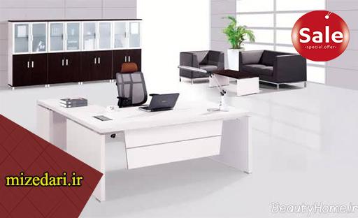میز اداری سفید