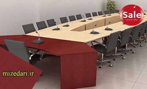 میز اداری کنفرانس منحنی