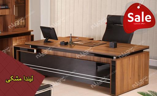 میز مدیریت لیندا مشکی چیله