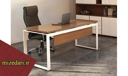 میز اداری پایه فلزی