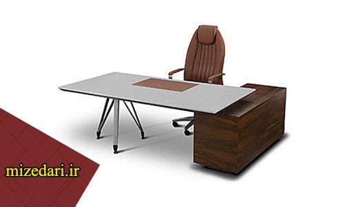 میز اداری چوب و فلز