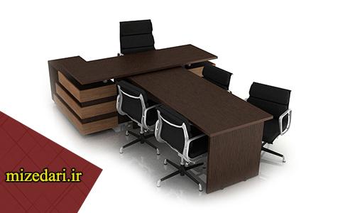 میز مدیریت با کنفرانس 6 نفره