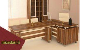 میز مدیریتی و کنفرانس همراه با 4 صندلی